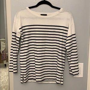 Striped J. Crew long sleeve shirt